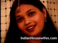 Indian Housewife Red Sari..